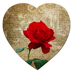 Red Rose Art Jigsaw Puzzle (Heart)