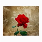 Red Rose Art Small Glasses Cloth