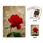 Red Rose Art Playing Cards Single Design