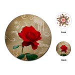 Red Rose Art Playing Cards (Round)