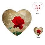 Red Rose Art Playing Cards (Heart)