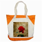 Red Rose Art Accent Tote Bag