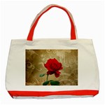 Red Rose Art Classic Tote Bag (Red)