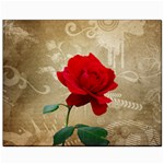 Red Rose Art Canvas 8  x 10