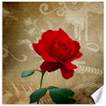Red Rose Art Canvas 12  x 12