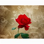 Red Rose Art Canvas 12  x 16