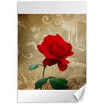 Red Rose Art Canvas 12  x 18