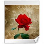 Red Rose Art Canvas 16  x 20