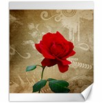 Red Rose Art Canvas 20  x 24