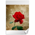 Red Rose Art Canvas 20  x 30