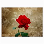 Red Rose Art Large Glasses Cloth