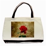 Red Rose Art Basic Tote Bag (Two Sides)