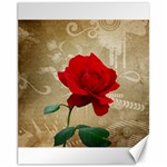 Red Rose Art Canvas 11  x 14