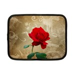 Red Rose Art Netbook Case (Small)