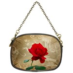 Red Rose Art Chain Purse (One Side)