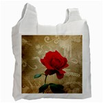Red Rose Art Recycle Bag (One Side)