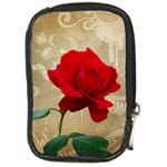 Red Rose Art Compact Camera Leather Case