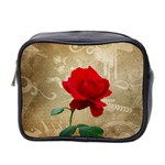 Red Rose Art Mini Toiletries Bag (Two Sides)