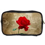 Red Rose Art Toiletries Bag (One Side)