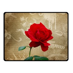 Red Rose Art Fleece Blanket (Small) from ArtsNow.com 50 x40  Blanket Front