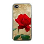 Red Rose Art iPhone 4 Case (Clear)