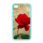 Red Rose Art iPhone 4 Case (Color)