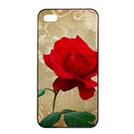 Red Rose Art iPhone 4/4s Seamless Case (Black)