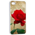 Red Rose Art iPhone 4/4s Seamless Case (White)