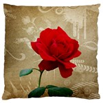 Red Rose Art Large Cushion Case (One Side)