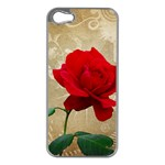 Red Rose Art iPhone 5 Case (Silver)