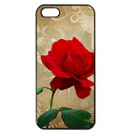 Red Rose Art iPhone 5 Seamless Case (Black)