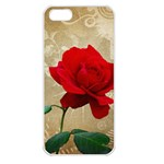 Red Rose Art iPhone 5 Seamless Case (White)