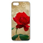 Red Rose Art Apple Seamless iPhone 5 Case (Clear)