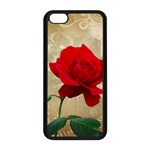 Red Rose Art iPhone 5C Seamless Case (Black)