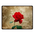 Red Rose Art Double Sided Fleece Blanket (Small)