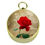 Red Rose Art Gold Compass