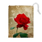 Red Rose Art Drawstring Pouch (XL)