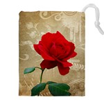 Red Rose Art Drawstring Pouch (XXL)