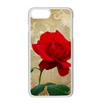 Red Rose Art iPhone 7 Plus Seamless Case (White)