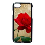 Red Rose Art iPhone 7 Seamless Case (Black)