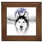 Wolf Moon Mountains Framed Tile