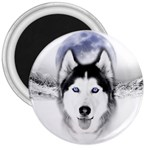 Wolf Moon Mountains 3  Magnet