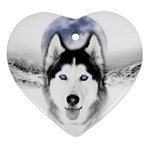 Wolf Moon Mountains Ornament (Heart)