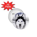 Wolf Moon Mountains 1.75  Button (10 pack)