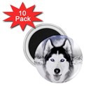 Wolf Moon Mountains 1.75  Magnet (10 pack)