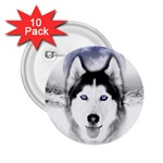 Wolf Moon Mountains 2.25  Button (10 pack)