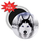 Wolf Moon Mountains 2.25  Magnet (10 pack)