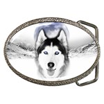 Wolf Moon Mountains Belt Buckle
