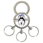 Wolf Moon Mountains 3-Ring Key Chain