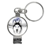 Wolf Moon Mountains Nail Clippers Key Chain